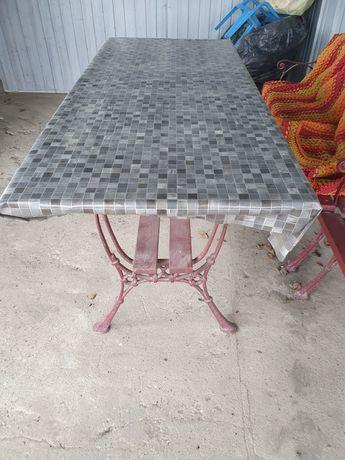 Zestaw meble ogrodowe żeliwne stół i dwie ławki ławka żeliwny komplet