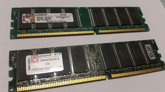 Pamięć RAM 4x 1GB DDR 400MHz 3200 dimm - GOODRAM i KINGSTON