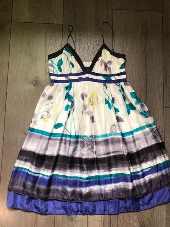 Sukienka Mango jedwabna