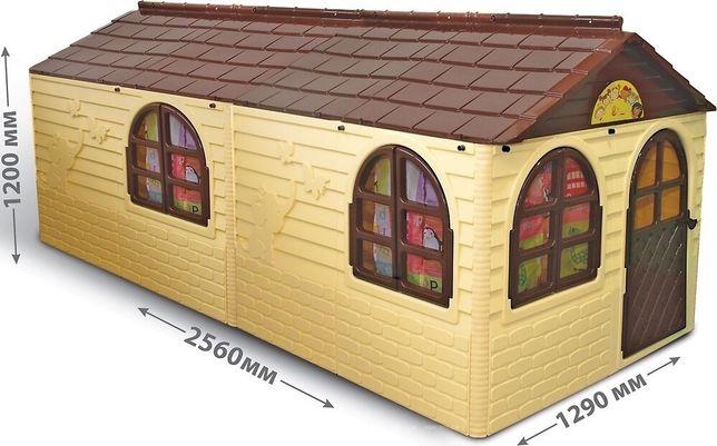 Большой пластиковый детский домик Dolini ( горка, бассейн )