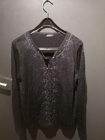 Błyszczący sweterek rozmiar M/L