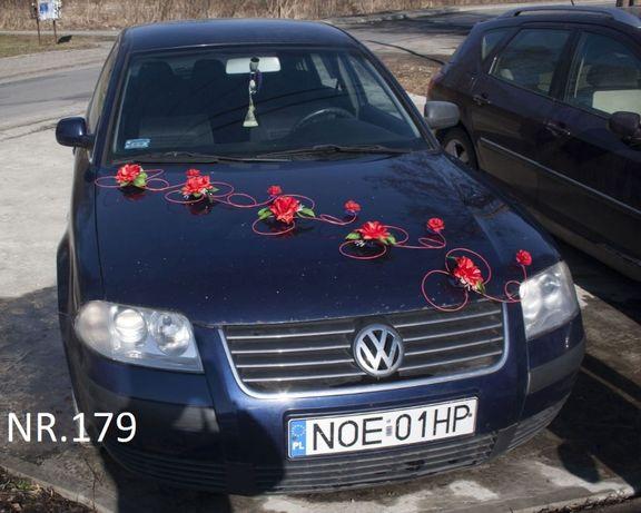 Piękna dekoracja na samochód w kolorze Czerwonym- SUPER CENA