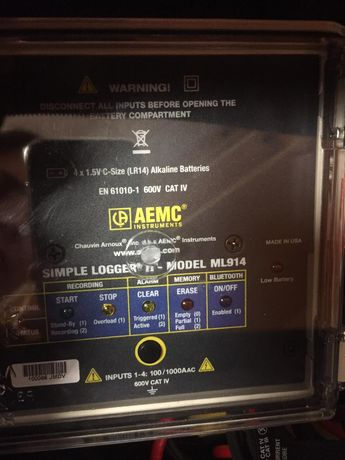 Simple data logger II AEMC ML914