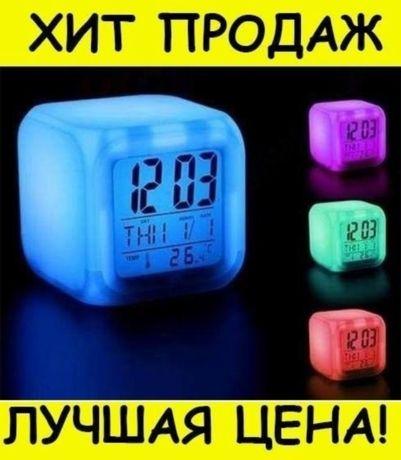 Часы ночной светильник Светящийся будильник подсветка