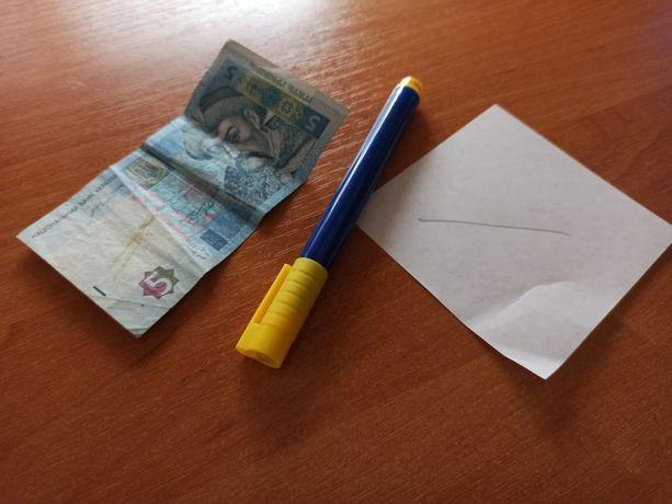 Маркер для проверки денежных купюр