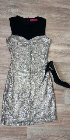Платье Next шифон s.Платье с паетками