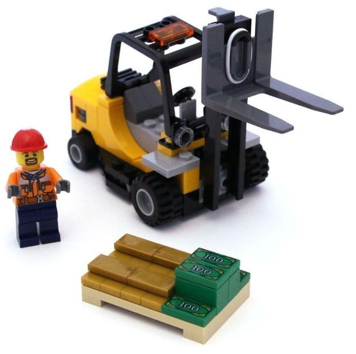 Lego Wózek Widłowy Pociag Train 60198,60020,7733,60022 MIX KG Mosina - image 1