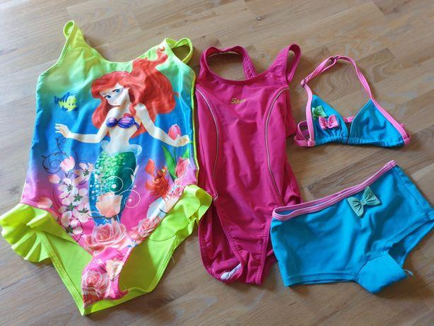 Kostiumy kąpielowe Ariel, Spin, komplet rozm. 122/128