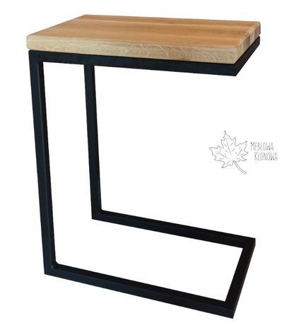 Stolik pomocniczy kawowy loft industrialny mały prostokątny kwadratowy