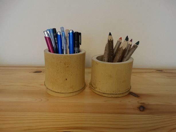 nowe, unikatowe kubki, przyborniki na długopisy, ołówki i kredki.
