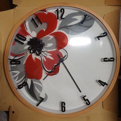 Zegar okrągły drewniany