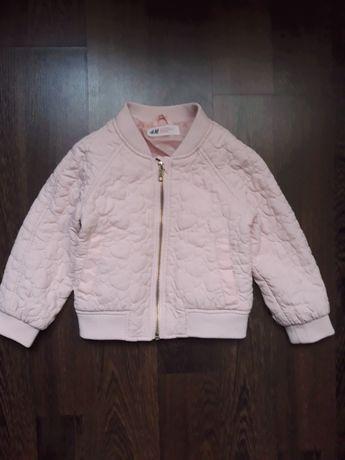 Бомбер H&m 1,5-2 куртка 92 см курточка ветровка вітрівка
