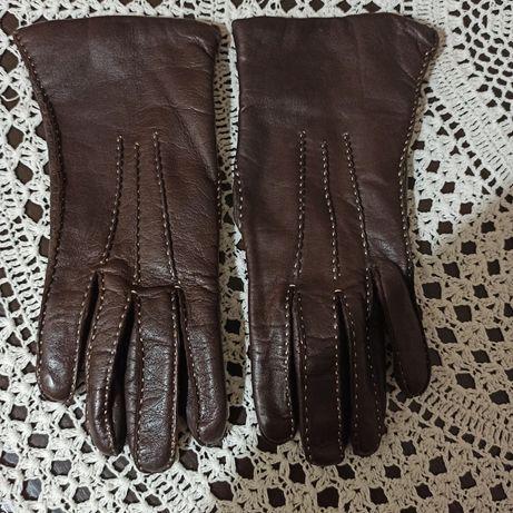 Damskie skórzane rękawiczki