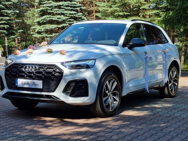 Samochód do ślubu. Wynajem auta na wesele. Białe Audi Q5 2021