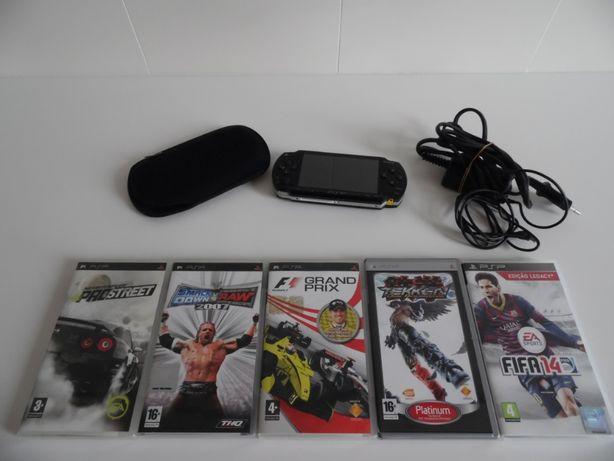 Conjunto PlayStation Portable (Inclui 5 jogos)