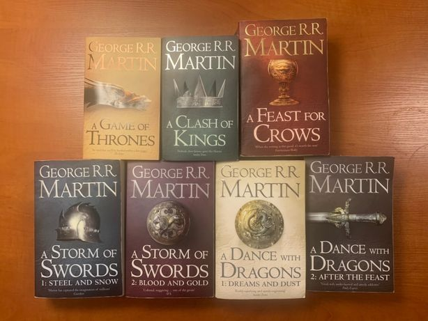 Song of Ice and Fire - Set of 7 - Gra o Tron po Angielsku