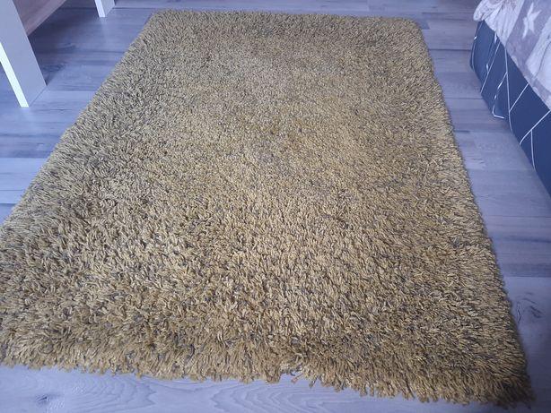 Dywan z dlugim włosiem oliwkowy, wymiar 117x170