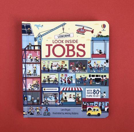 Usborne, Look inside Jobs , энциклопедия с окошками ,професии