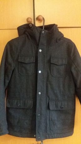 Пальто утепленное, зимнее NEXT на мальчика 10 лет (шерсть)
