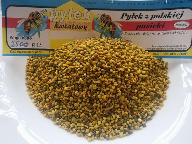 Pyłek pszczeli, pyłek kwiatowy z własnej pasieki 2,5 kg opakowanie