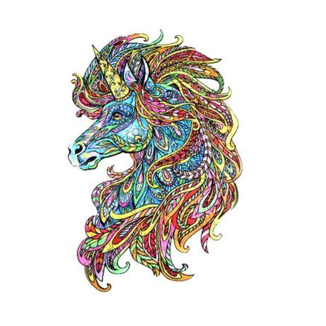 Пазлы Единорог Деревянные с фигурками животных в подарочной упаковке