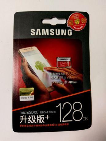 Карта памяти microSD Samsung EVO Plus UHS1 U3 128Gb Оригинал