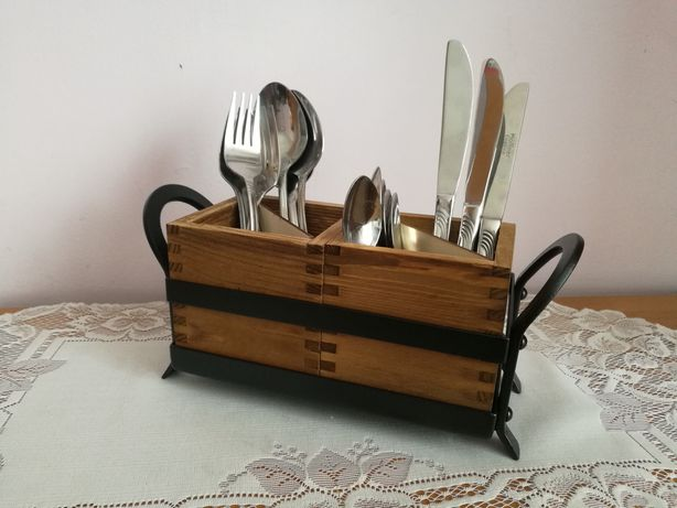 Organizer kuchenny na sztućce łyżki widelec noże loft industrial