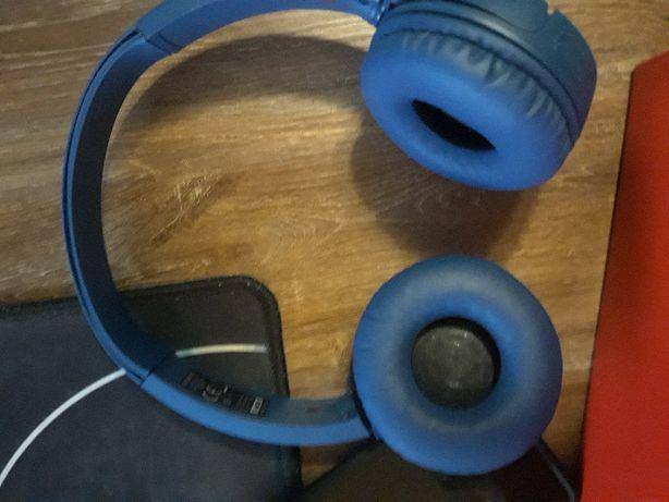 słuchawki sonny niebieskie bezprzewodowe