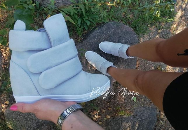 Szare sneakersy. Nowe. 40