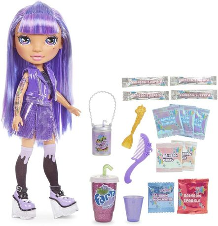 Кукла пупси слайм Фиолетовая Леди Poopsie Rainbow High Girls Amethyst