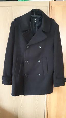 Płaszcz męski czarny H&M jak nowy r. 48
