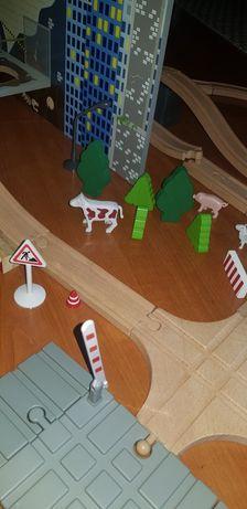 Pista estação carros madeira