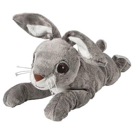 Плюшевая игрушка Зайчик серый 40 см IKEA детская мягкая игрушка