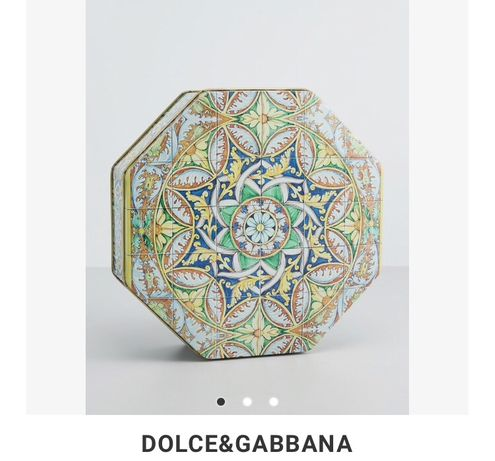 D&G шкатулка ,Majolica,оригинал,Италия,новая,25 см диаметр