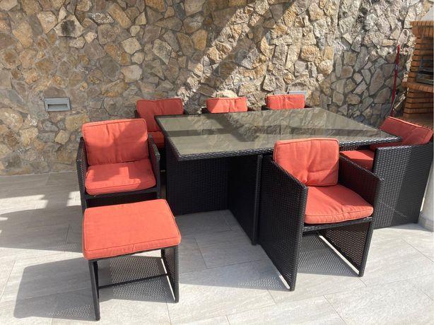 Mesa+Cadeiras de Jardim