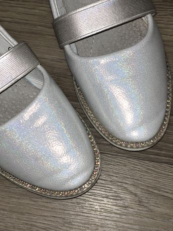 Нарядные туфли на девочку, туфли на утренник, балетки