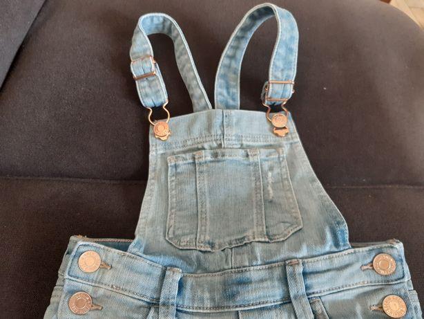 Ogrodniczki jeansowe jeansy H&M