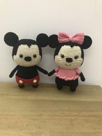 Minnie e Mickey em crochet / amigurumi