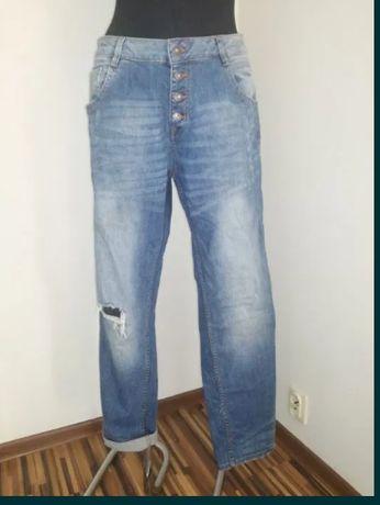 Spodnie damskie dżinsowe z dziurami Tom Tailor dla puszystej XL 46 48