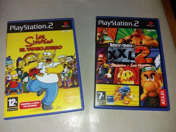 Jogos Ps2 (Simpsons, Asterix) - 8€ cada