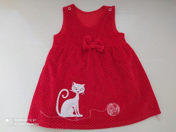 sukienka czerwona r 80