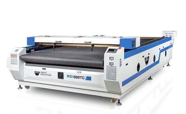 Laser Weni Co2 1610TC W6 160W -stół taśmowy do tkanin-, cięcie z roli