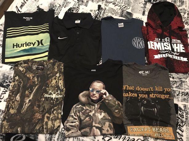Komplet 7 koszulek: Nike, Hurley, Putin...