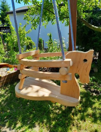 Huśtawka ogrodowa drewniana dziecięca koń konik