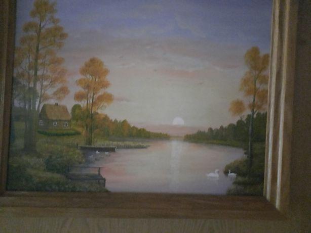 Pejzaże ,piękne widoki ręcznie malowane