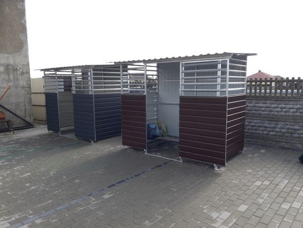 Wiata śmietnikowa ocynkowana,Altana,Schowek na śmieci,drewno,garaż