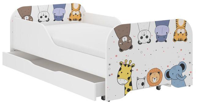 Łóżko MIKI dziecięce 140x70 + materac + szuflada ! DUŻO WZORÓW
