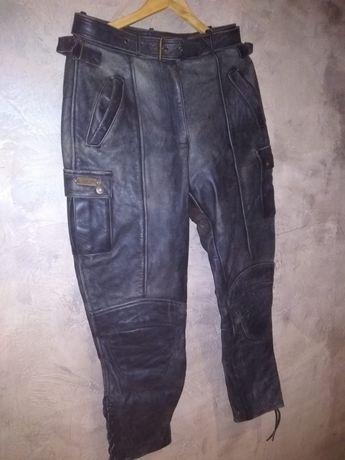 Skórzane spodnie motocyklowe 42