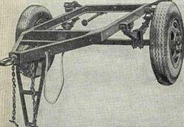 Рама с осью прицепа ТАПЗ-755.