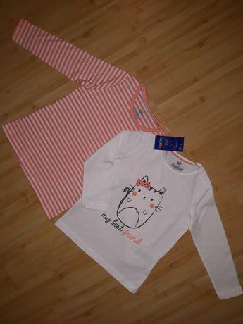 Классный лонгслив lupilu комплект (2шт) кофточка футболка для девочки